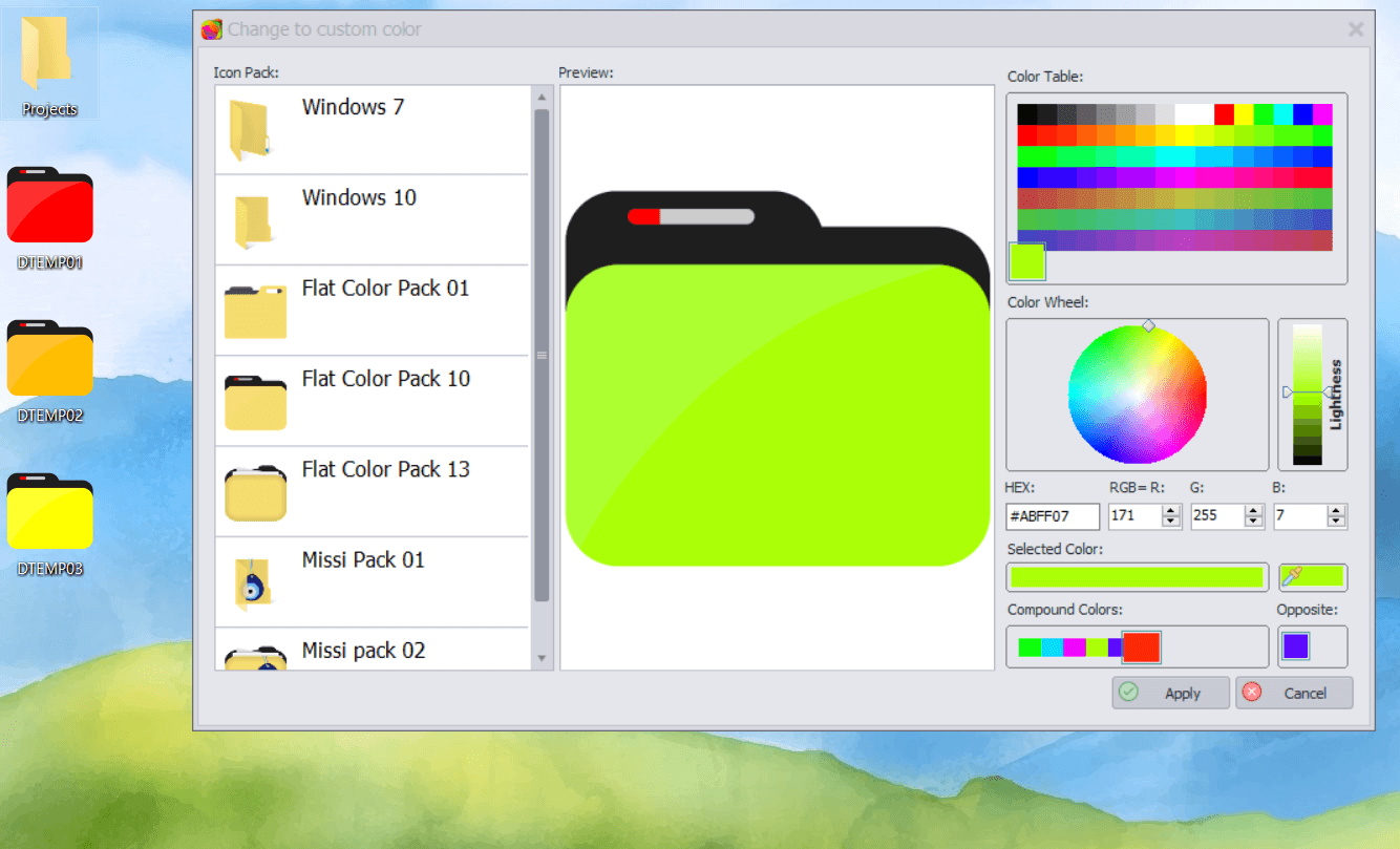 Folder Icon Basic Any Color Preview