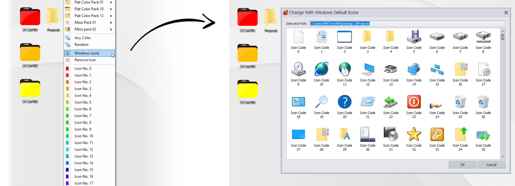 Quick Access to System Default Icons