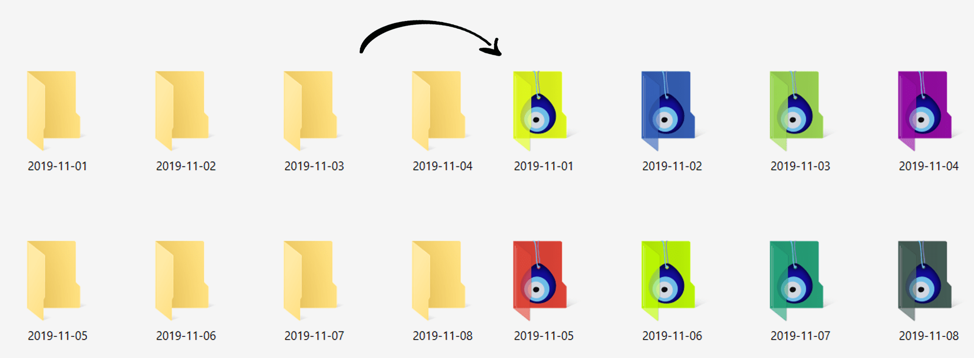 Folder Icon Basic Random Color Change