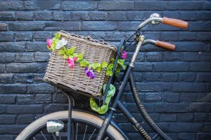Photo of basket attached to a bike