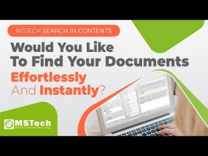 Searching for a file has never been so fast - MSTech Search in Contents