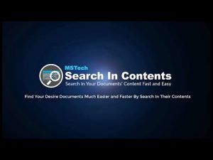 Find your desired documents much easier and faster by Search in Contents v1