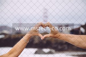 couple forming heart using their hands in focus photography photo