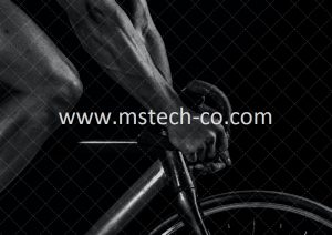grayscale photography of man riding bicycle photo