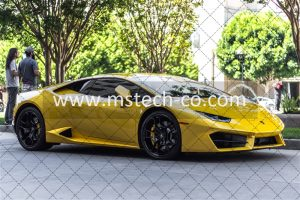 yellow sports car photo