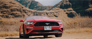 red Ford Mustang photo
