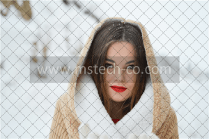 smiling woman with winter coat during daytime photo